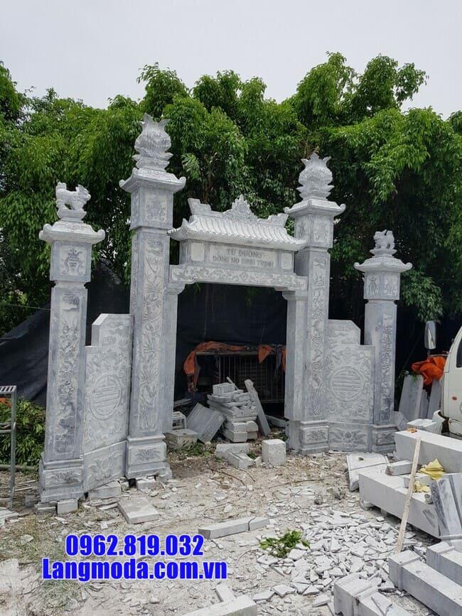 mẫu cổng đá đẹp tại Long An
