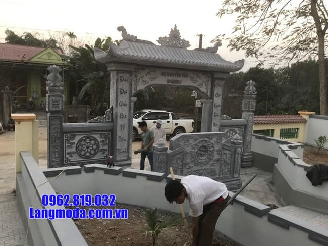 mẫu cổng đá tại Cao Bằng đẹp