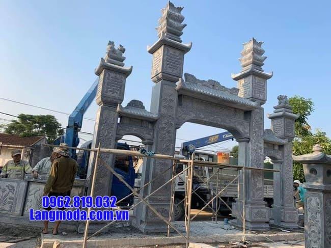 mẫu cổng đá tại Cao Bằng