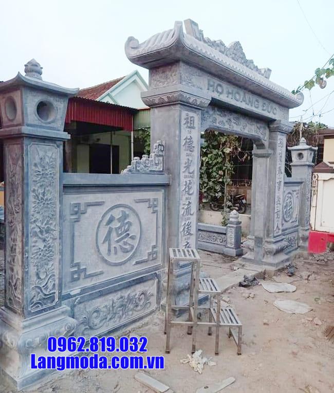 mẫu cổng nhà thờ họ đẹp tại Bắc Giang