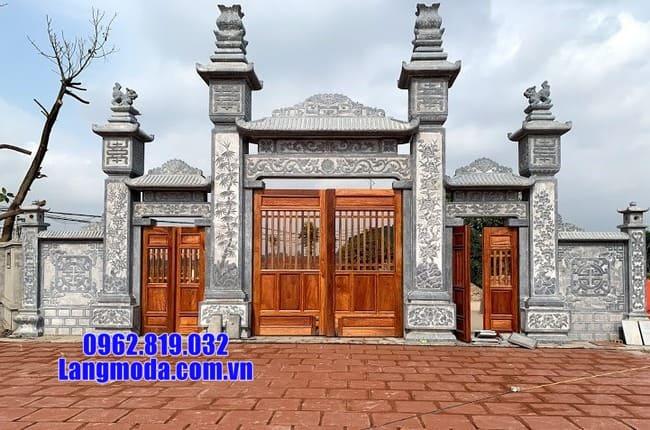 mẫu cổng tam quan bằng đá đẹp tại Cao Bằng