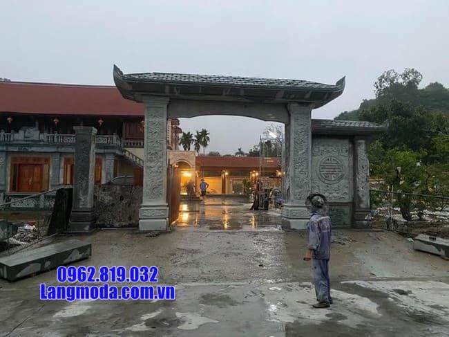 mẫu cổng tam quan bằng đá đẹp tại Long An