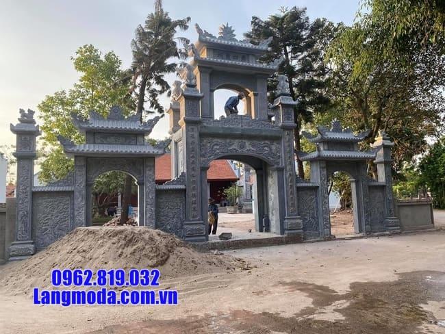 mẫu cổng tam quan đá đẹp tại Cao Bằng