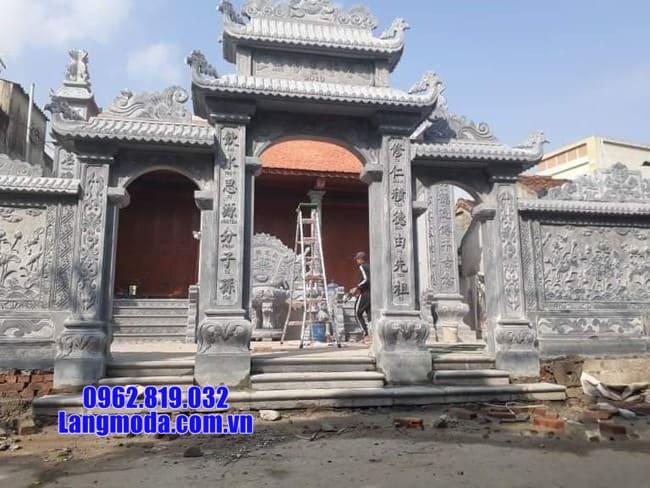 mẫu cổng tam quan đá tại Cao Bằng đẹp