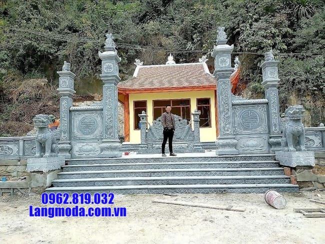 mẫu cổng tam quan đá tại Cao Bằng