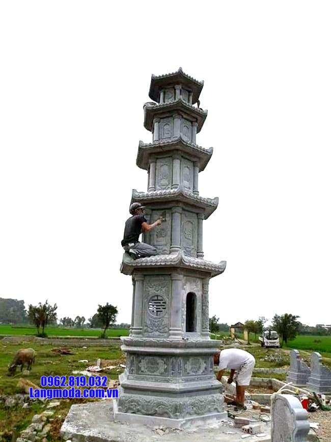 mẫu mộ tháp đá để thờ hũ tro cốt tại Quy Nhơn đẹp