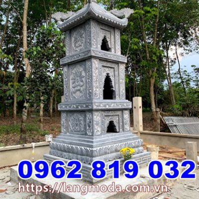 Mẫu tháp mộ đá để tro cốt tại Phú Yên