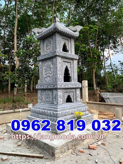 Mẫu tháp mộ đá để tro cốt tại Phú Yên, Tháp mộ thờ hũ tro cốt tại Phú Yên