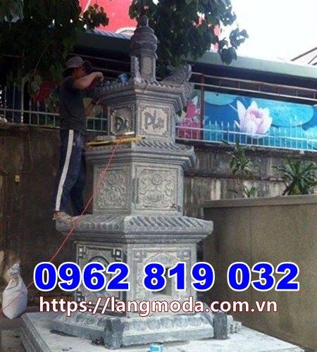 Mẫu tháp đá đẹp để tro cốt tại Bình Định