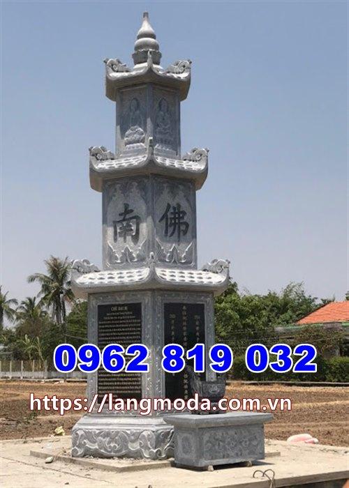 Mẫu tháp mộ đẹp bằng đá xanh để tro cốt tại Đồng Nai