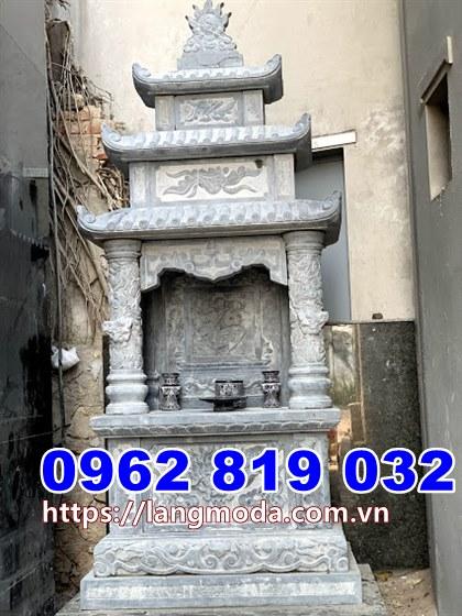 Mẫu tháp đẹp để hũ tro cốt bằng đá tại Sóc Trăng
