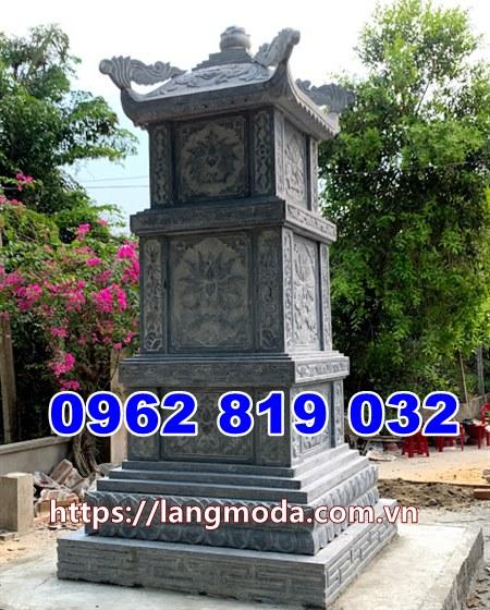 mẫu tháp mộ đá đẹp thờ hũ tro cốt tại Bình Dương