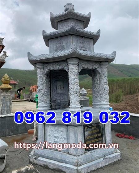 Mẫu tháp mộ đẹp để hũ tro cốt tại An Giang kiểu lục lăng
