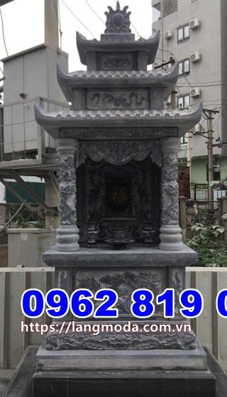 Mẫu tháp mộ đẹp để tro cốt bằng đá tại Trà Vinh