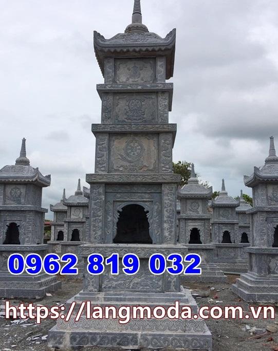 Mẫu tháp thờ cốt bằng đá tại đồng tháp