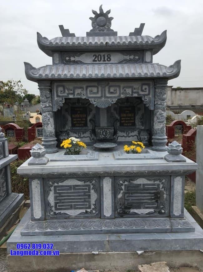 mộ đôi bằng đá xanh đen đẹp nhất tại Bạc Liêu