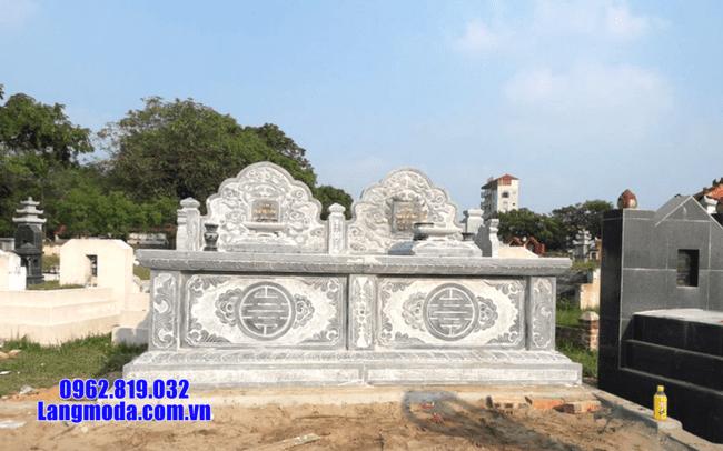 mộ đôi đá mỹ nghệ tại Bạc Liêu