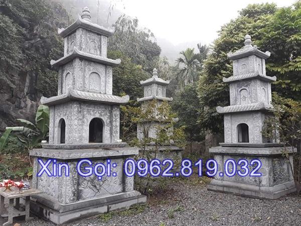 mộ tháp bằng đá để thờ hũ tro cốt tại Quy Nhơn đẹp nhất