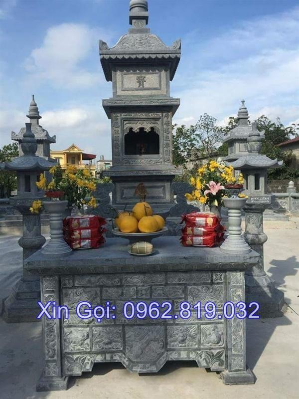 mộ tháp bằng đá đẹp nhất để thờ hũ tro cốt tại Quy Nhơn