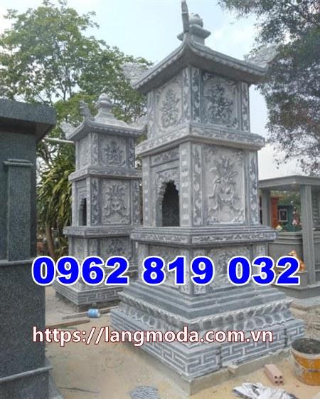 Tháp mộ bằng đá để hũ tro cốt tại Bạc Liêu Mộ đá đẹp tại Bạc Liêu