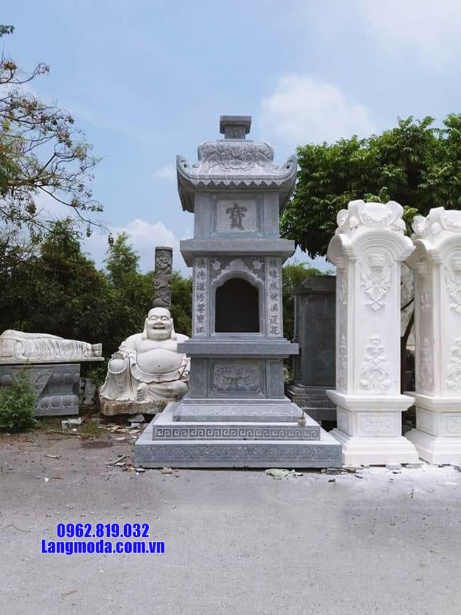tháp mộ đẹp bằng đá để thờ hũ tro cốt tại Quy Nhơn