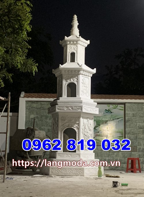 Tháp mộ đẹp đá trắng để tro cốt tại Đồng Nai