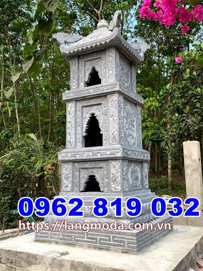 Tháp mộ đẹp để hũ tro cốt bằng đá tại Vĩnh Long
