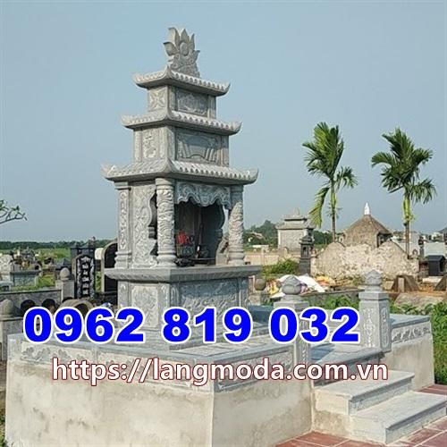 Tháp mộ đẹp để tro cốt ba tầng tại Trà Vinh