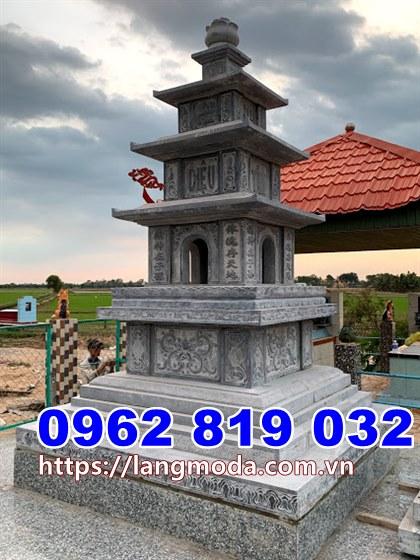 Xây tháp mộ thờ hũ tro cốt đẹp tại Vĩnh Long- Mẫu mộ đẹp để hũ tro cốt tại Vĩnh Long