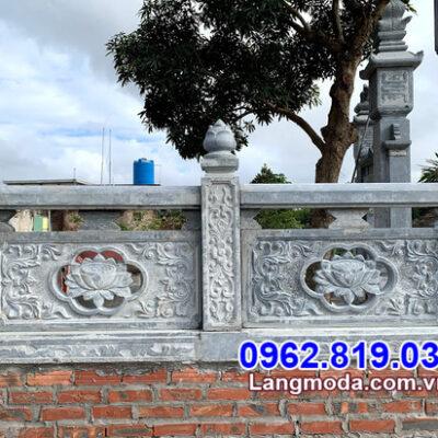 Hình ảnh mẫu lan can đá nhà mồ thiết kế đẹp tại Bến Tre