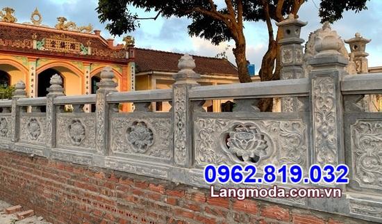 Lắp đặt hàng rào bằng đá đẹp cho khu lăng mộ tại Cà Mau