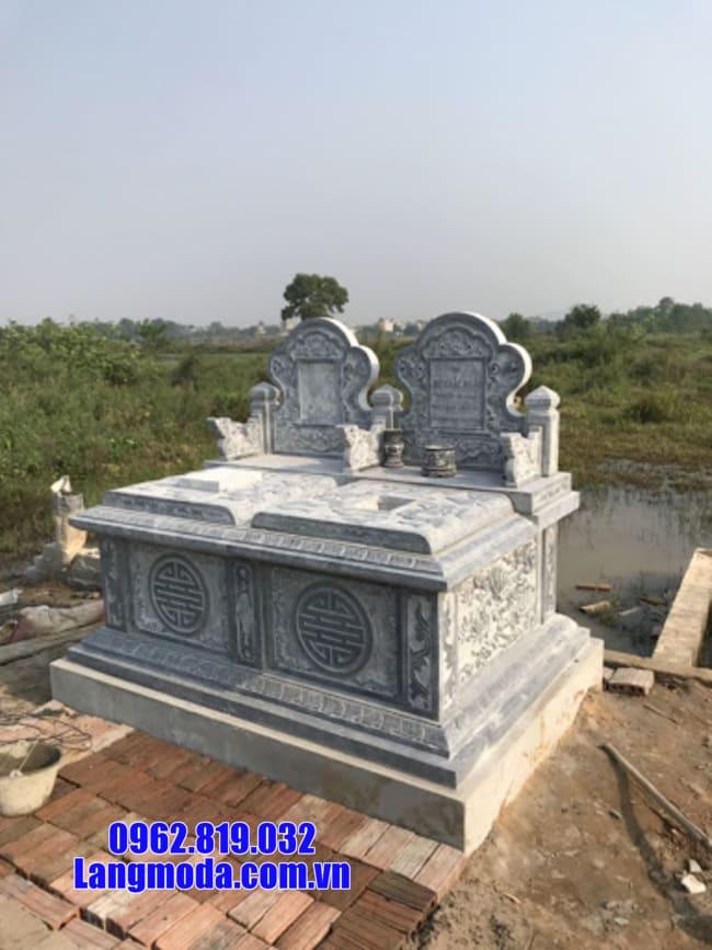Mẫu mộ đá đôi đẹp tại Cà Mau - Làm mộ đôi bằng đá tại Cà Mau