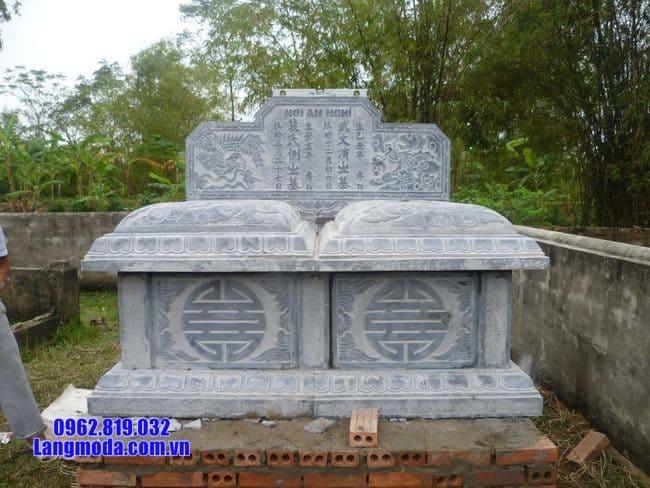 Mẫu mộ đôi bằng đá đẹp nhất tại Bến Tre