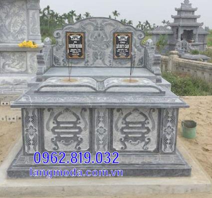 Mẫu mộ đôi bằng đá đẹp tại Hậu Giang