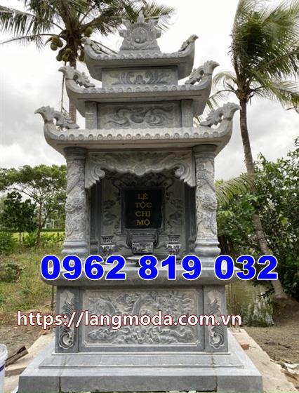 Mẫu mộ đôi bằng đá đẹp thiết kế kiểu có mái che tại Đồng Nai