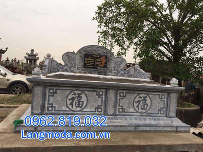 Mộ đôi tại Cần Thơ - Mẫu mộ đôi bằng đá đẹp nhất lắp đặt tại Cần Thơ