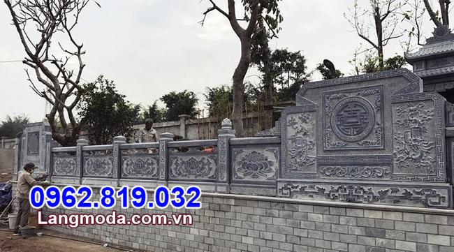 Tường rào đá nhà mồ tại Kiên Giang
