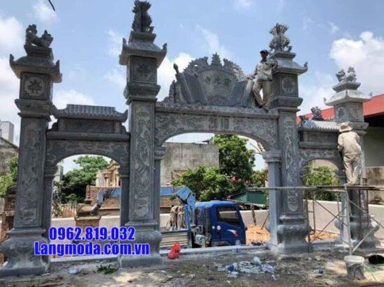 cổng chùa bằng đá tại Bến Tre đẹp