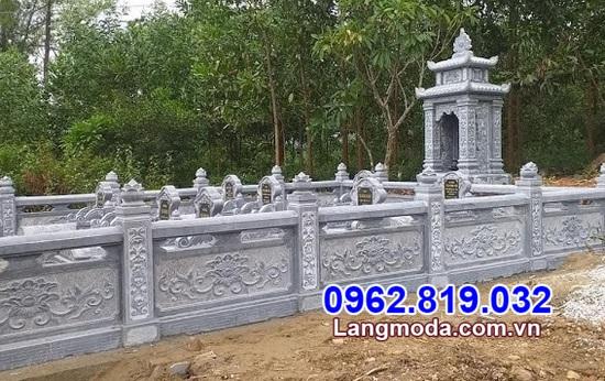 hàng rào bằng đá đẹp cho khu lăng mộ tại Cà Mau
