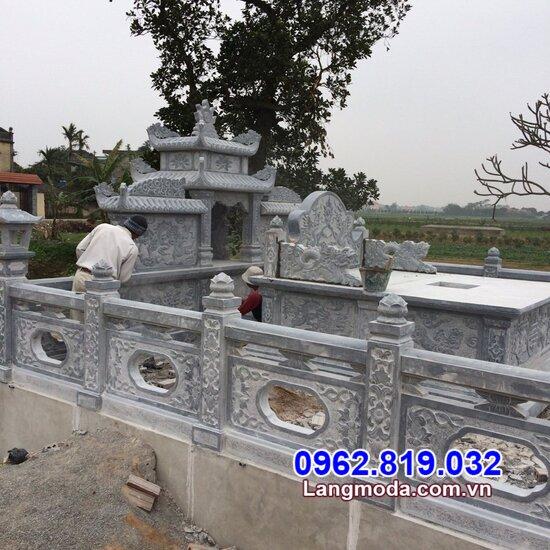 hàng rào đá nhà mồ đẹp lắp đặt tại Bạc Liêu