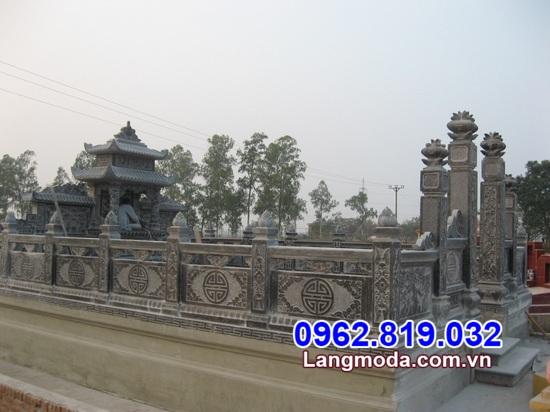 hàng rào đá nhà mồ đẹp tại Bạc Liêu