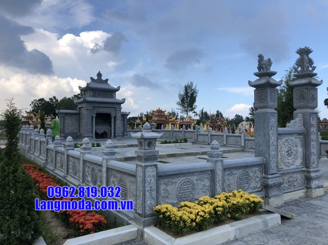 hàng rào khu nhà mộ bằng đá đẹp nhất