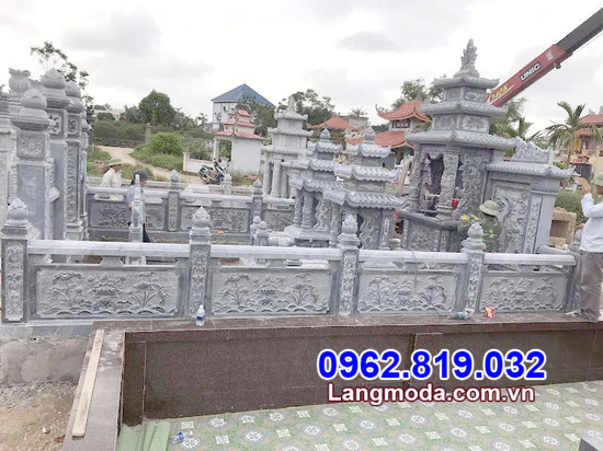 hành lang bằng đá khu nhà mồtại Đồng Tháp