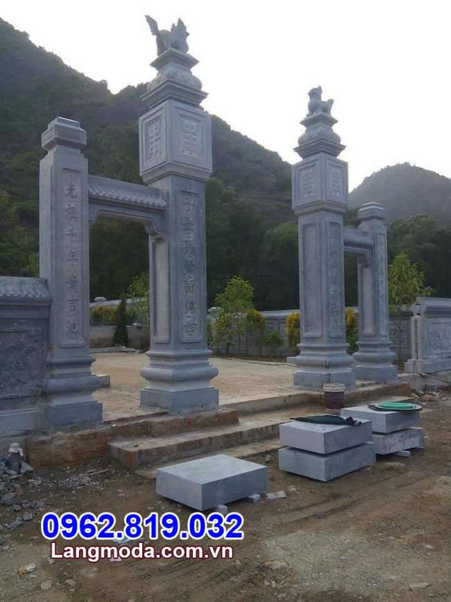 mẫu cổng tam quan chùa bằng đá tại Cần Thơ đẹp nhất
