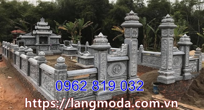 Mẫu hàng rào bao quanh khu lăng mộ đá đẹp