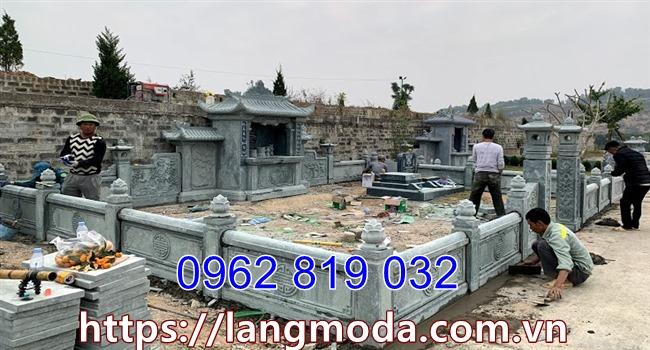 Mẫu hàng rào đá bao quanh nhà mồ lăng mộ;