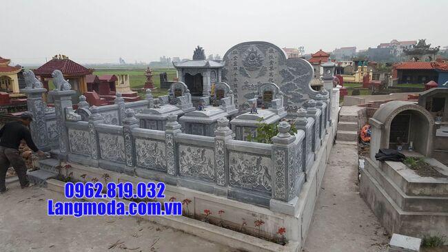 mẫu hàng rào khu nhà mộ bằng đá đẹp nhất hiện nay