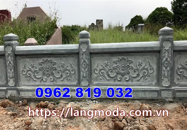 Mẫu hàng rào khu nhà mồ đá xanh rêu