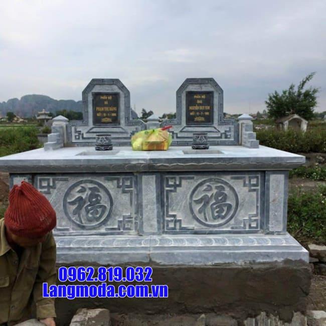 mẫu mộ đôi đá đẹp nhất tại Cà Mau