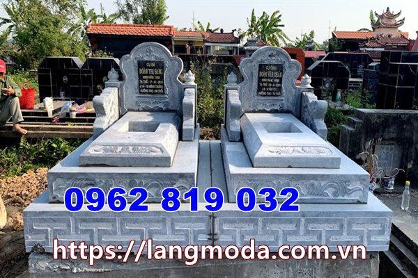mẫu mộ đôi đẹp mộ song thân bằng đá tại Long An